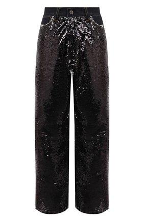 Женские джинсы с пайетками GOLDEN GOOSE DELUXE BRAND черного цвета, арт. G36WP084.A1 | Фото 1