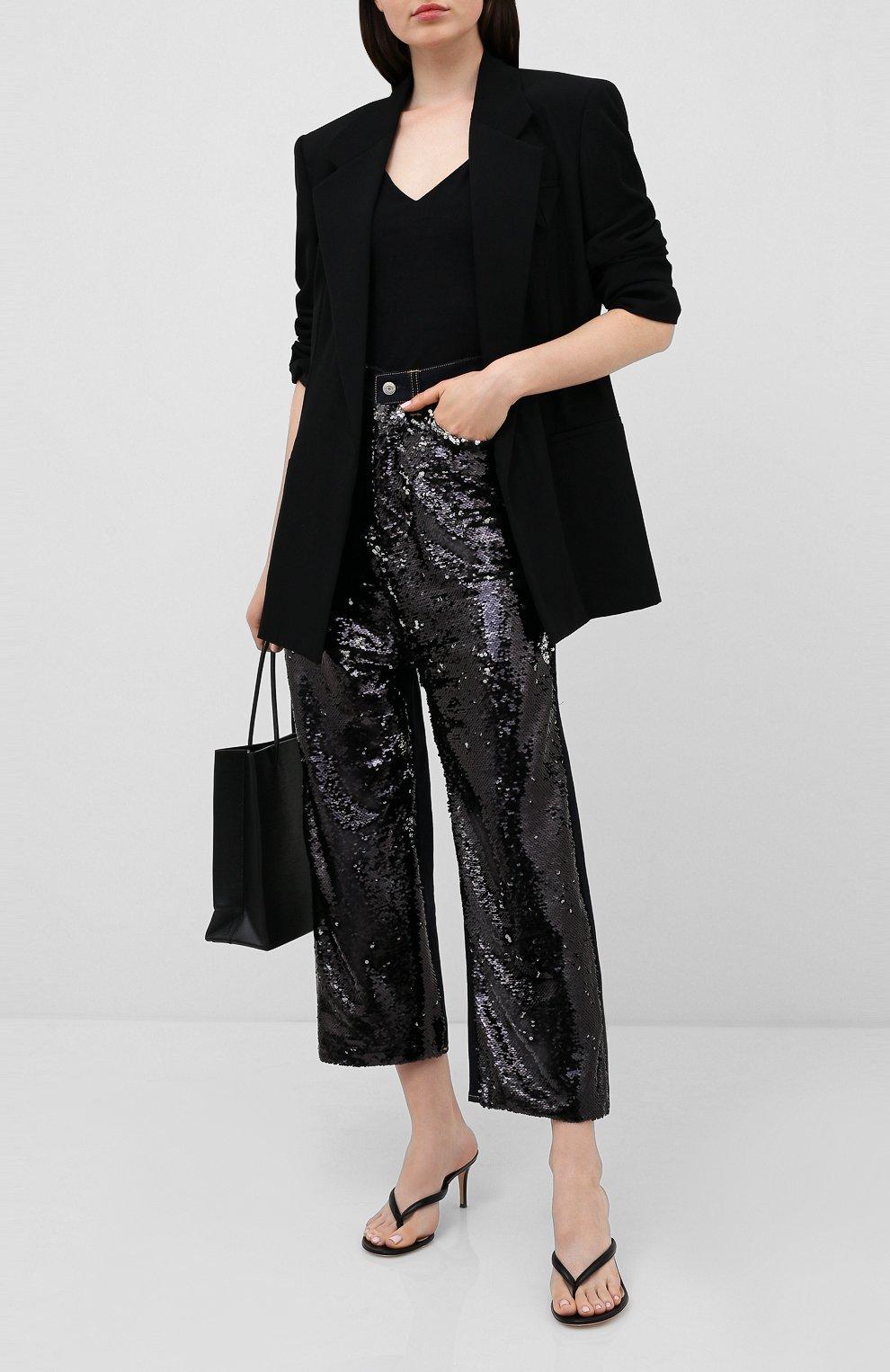 Женские джинсы с пайетками GOLDEN GOOSE DELUXE BRAND черного цвета, арт. G36WP084.A1   Фото 2