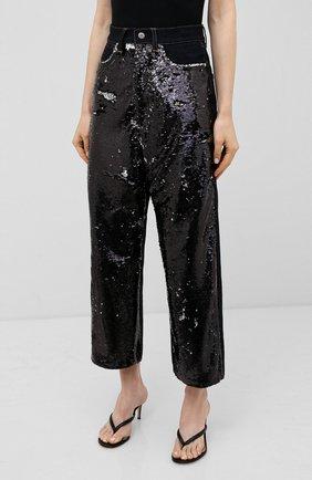 Женские джинсы с пайетками GOLDEN GOOSE DELUXE BRAND черного цвета, арт. G36WP084.A1   Фото 3