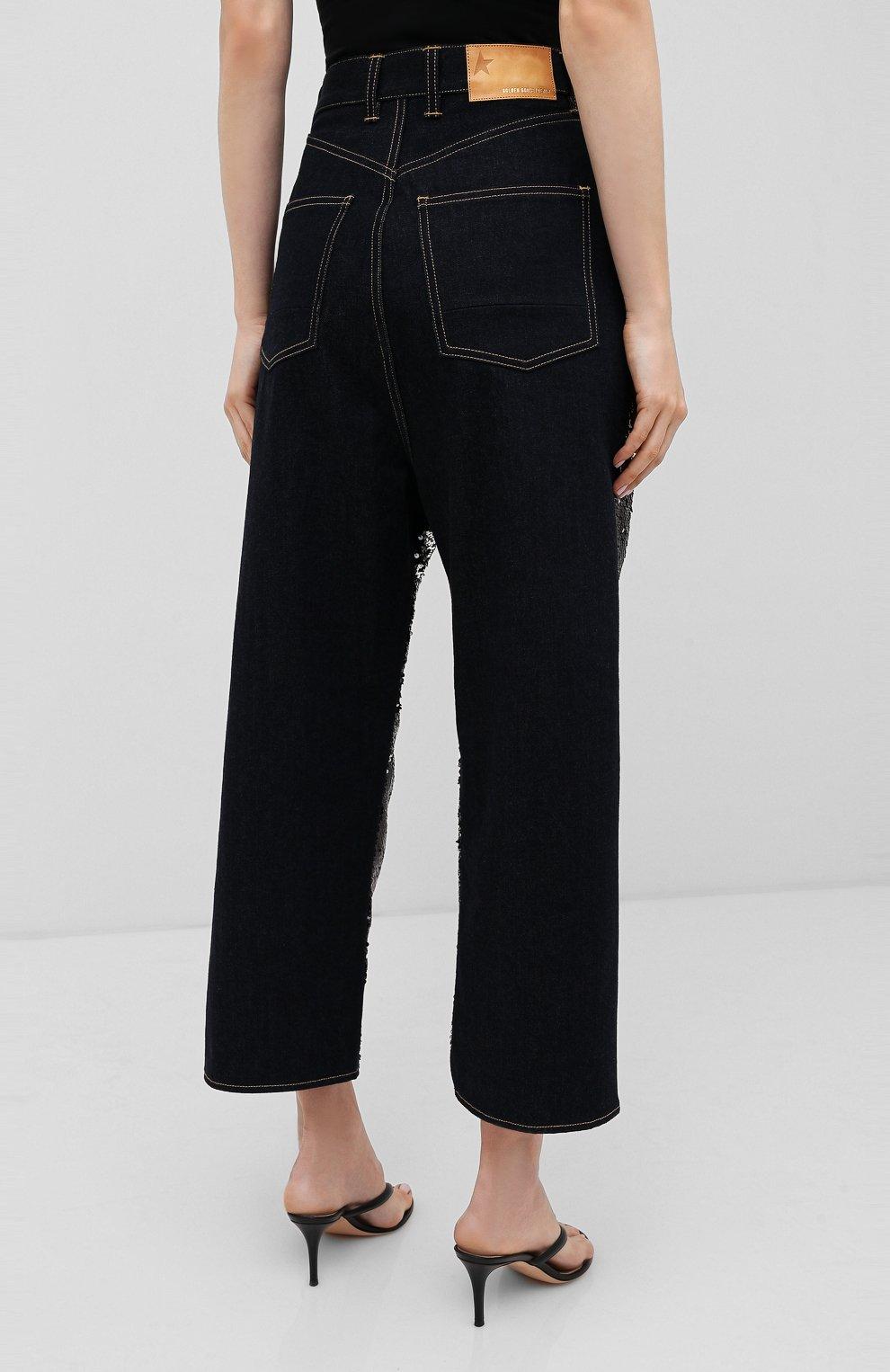 Женские джинсы с пайетками GOLDEN GOOSE DELUXE BRAND черного цвета, арт. G36WP084.A1   Фото 4