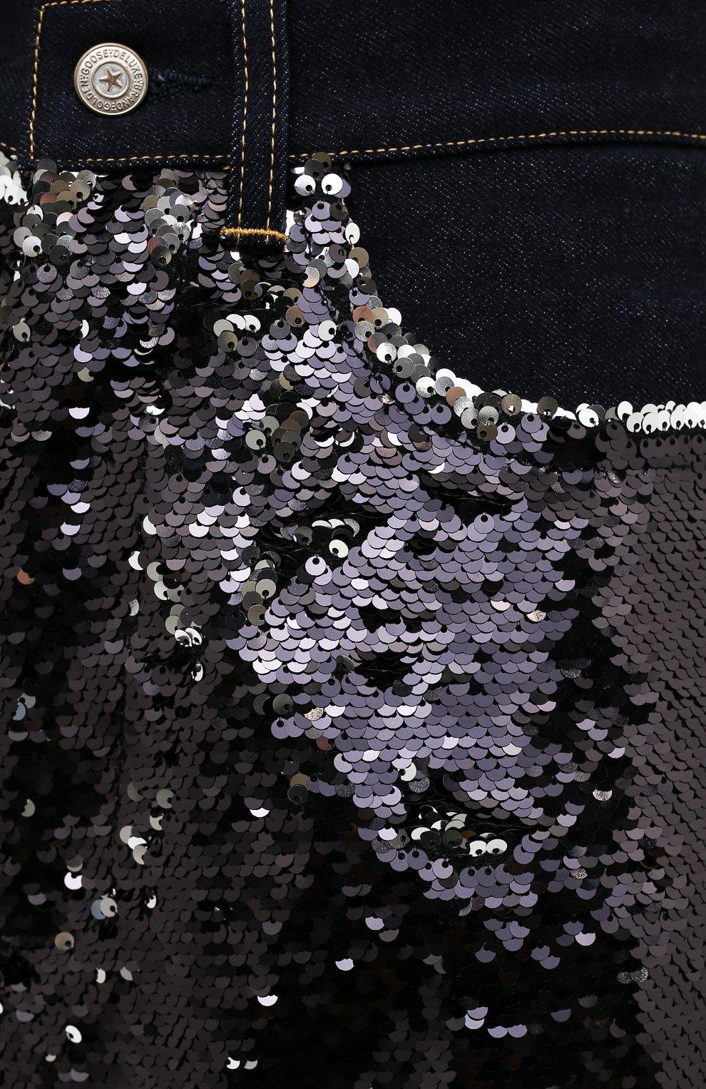 Женские джинсы с пайетками GOLDEN GOOSE DELUXE BRAND черного цвета, арт. G36WP084.A1   Фото 5