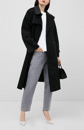 Женские кожаные туфли TOM FORD белого цвета, арт. W2523T-ICL013 | Фото 2 (Материал внутренний: Натуральная кожа; Подошва: Плоская; Каблук тип: Шпилька; Каблук высота: Высокий)