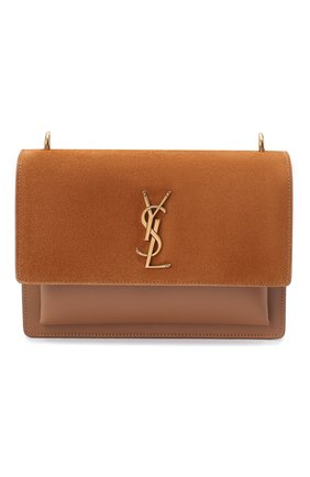 Женская сумка sunset medium SAINT LAURENT коричневого цвета, арт. 442906/1S77W   Фото 1