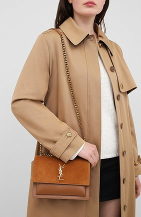 Женская сумка sunset medium SAINT LAURENT коричневого цвета, арт. 442906/1S77W   Фото 2