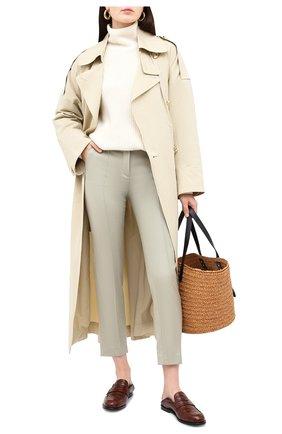 Женские кашемировые брюки LORO PIANA светло-зеленого цвета, арт. FAI8499 | Фото 2