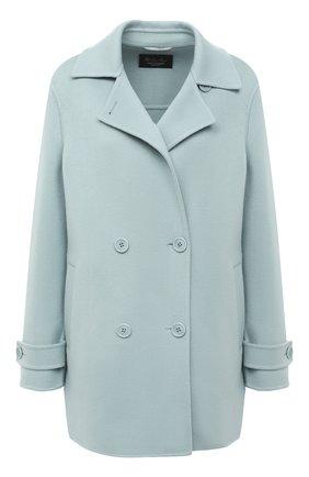Женское кашемировое пальто LORO PIANA голубого цвета, арт. FAL2224 | Фото 1