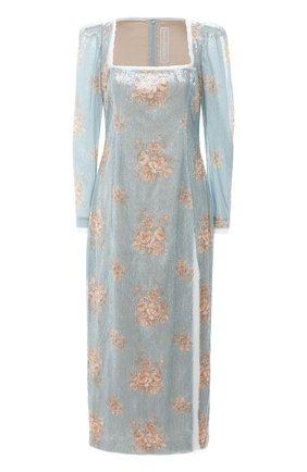 Женское платье с пайетками ULYANA SERGEENKO голубого цвета, арт. ABM012SS20P (0288т20) | Фото 1