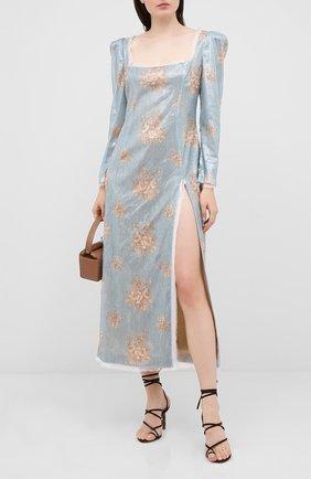 Женское платье с пайетками ULYANA SERGEENKO голубого цвета, арт. ABM012SS20P (0288т20) | Фото 2