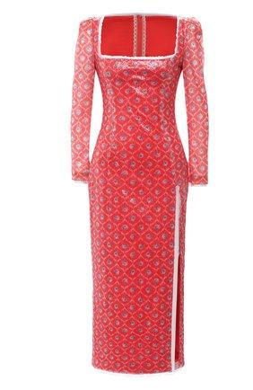 Женское платье с пайетками ULYANA SERGEENKO красного цвета, арт. ABM012SS20P (0290т20) | Фото 1
