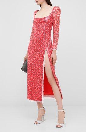 Женское платье с пайетками ULYANA SERGEENKO красного цвета, арт. ABM012SS20P (0290т20) | Фото 2