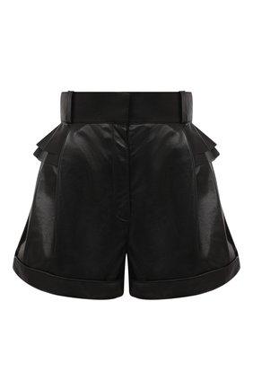 Женские кожаные шорты ULYANA SERGEENKO черного цвета, арт. SHS001SS20P (0852т20) | Фото 1