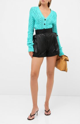 Женские кожаные шорты ULYANA SERGEENKO черного цвета, арт. SHS001SS20P (0852т20) | Фото 2