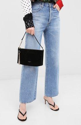 Женская сумка callie JIMMY CHOO черного цвета, арт. CALLIE MINI H0B0/SUE | Фото 2