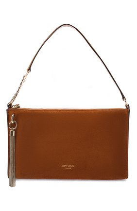 Женская сумка callie JIMMY CHOO коричневого цвета, арт. CALLIE MINI H0B0/SUE | Фото 1