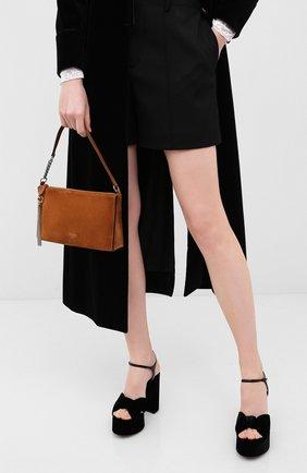 Женская сумка callie JIMMY CHOO коричневого цвета, арт. CALLIE MINI H0B0/SUE | Фото 2