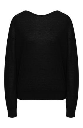 Женский пуловер из шерсти и шелка DOROTHEE SCHUMACHER черного цвета, арт. 810215/S0PHISTICATED S0F | Фото 1