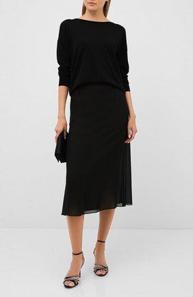 Женская пуловер из шерсти и шелка DOROTHEE SCHUMACHER черного цвета, арт. 810215/S0PHISTICATED S0F | Фото 2