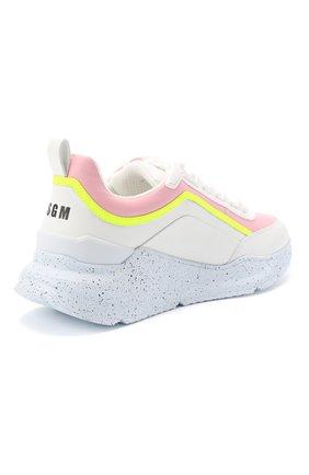 Женские кожаные кроссовки scarpa donna MSGM розового цвета, арт. 2841MDS211 173 | Фото 4
