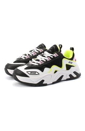 Женские комбинированные кроссовки MSGM черно-белого цвета, арт. 2841MDS7001 140 | Фото 1