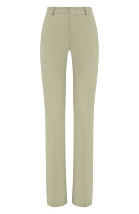 Женские хлопковые брюки LORO PIANA светло-зеленого цвета, арт. FAL2656 | Фото 1