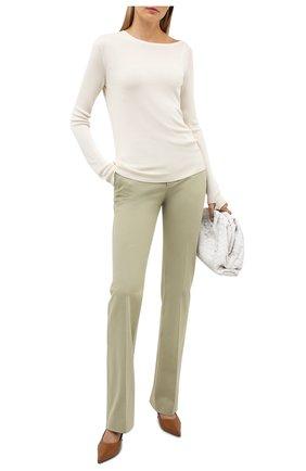 Женские хлопковые брюки LORO PIANA светло-зеленого цвета, арт. FAL2656 | Фото 2
