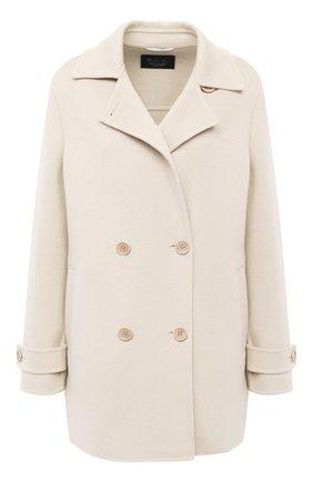 Женское кашемировое пальто LORO PIANA кремвого цвета, арт. FAL2224 | Фото 1