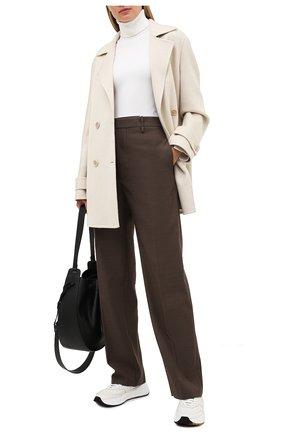 Женское кашемировое пальто LORO PIANA кремвого цвета, арт. FAL2224 | Фото 2