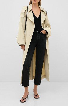 Женская кашемировый пуловер SAINT LAURENT черного цвета, арт. 633328/YALL2 | Фото 2