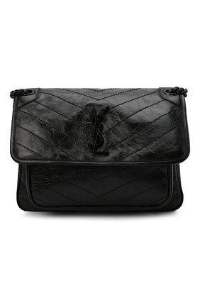 Женская сумка niki large SAINT LAURENT черного цвета, арт. 633184/0EN08 | Фото 1