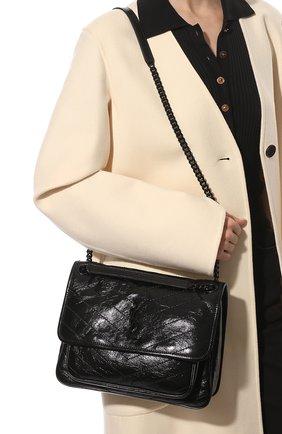 Женская сумка niki large SAINT LAURENT черного цвета, арт. 633184/0EN08 | Фото 2