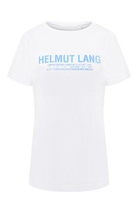 Женская хлопковая футболка HELMUT LANG белого цвета, арт. I04HW513 | Фото 1