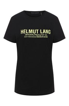Женская хлопковая футболка HELMUT LANG черного цвета, арт. I04HW513 | Фото 1