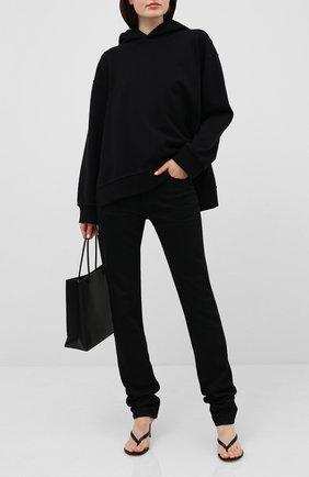 Женские джинсы HELMUT LANG черного цвета, арт. I07DW209 | Фото 2