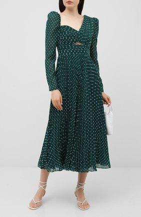 Женское платье SELF-PORTRAIT зеленого цвета, арт. PF20-009M | Фото 2