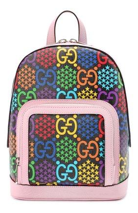 Женский рюкзак gucci psychedelic GUCCI розового цвета, арт. 601296/HPUEN | Фото 1
