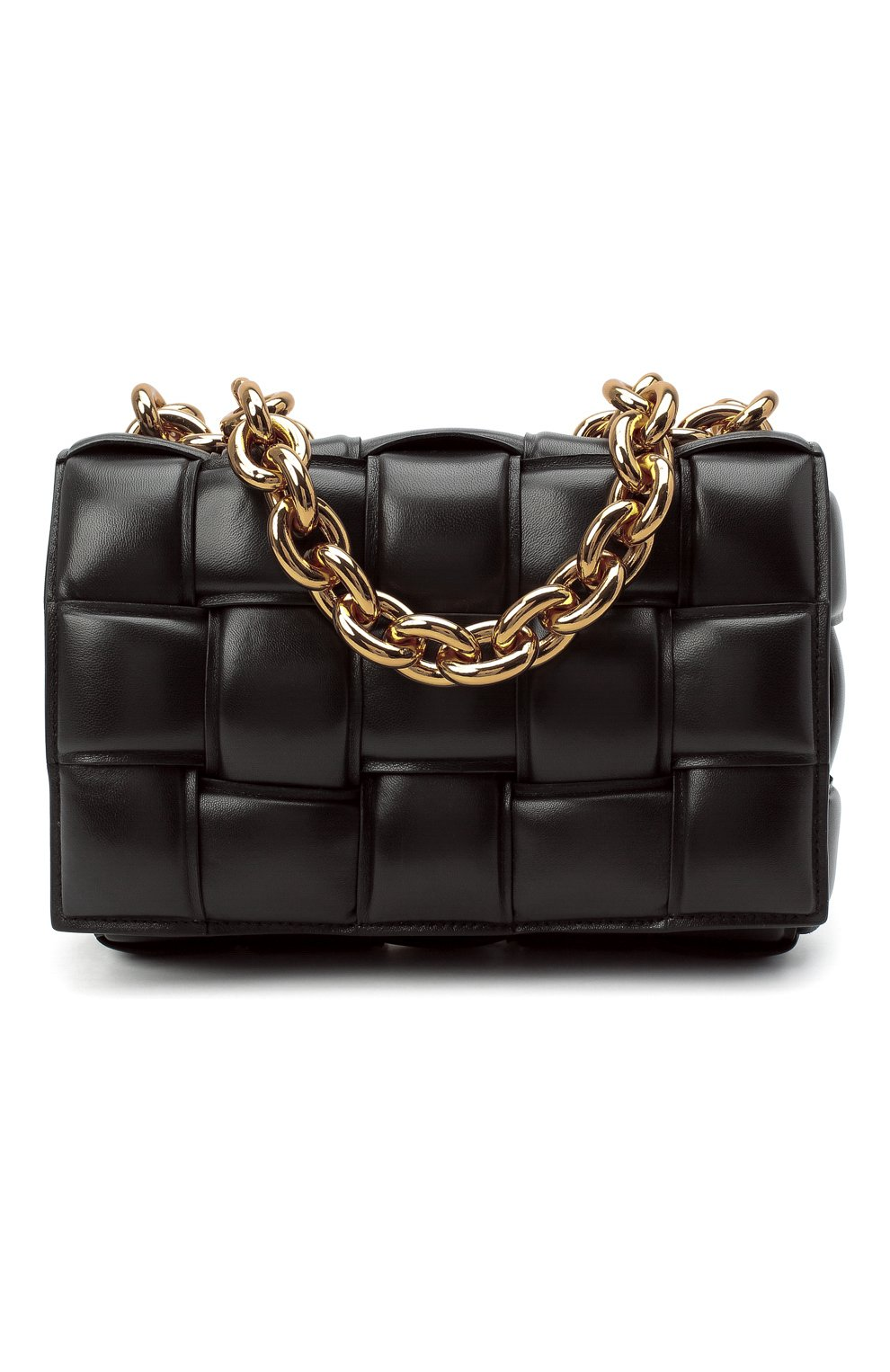 Женская сумка chain cassette BOTTEGA VENETA темно-коричневого цвета, арт. 631421/VBWZ0 | Фото 1