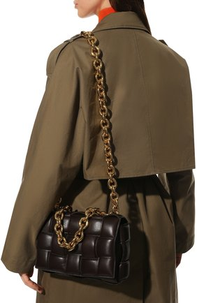 Женская сумка chain cassette BOTTEGA VENETA темно-коричневого цвета, арт. 631421/VBWZ0 | Фото 2