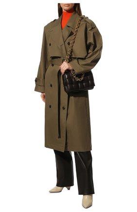 Женская сумка chain cassette BOTTEGA VENETA темно-коричневого цвета, арт. 631421/VBWZ0 | Фото 3