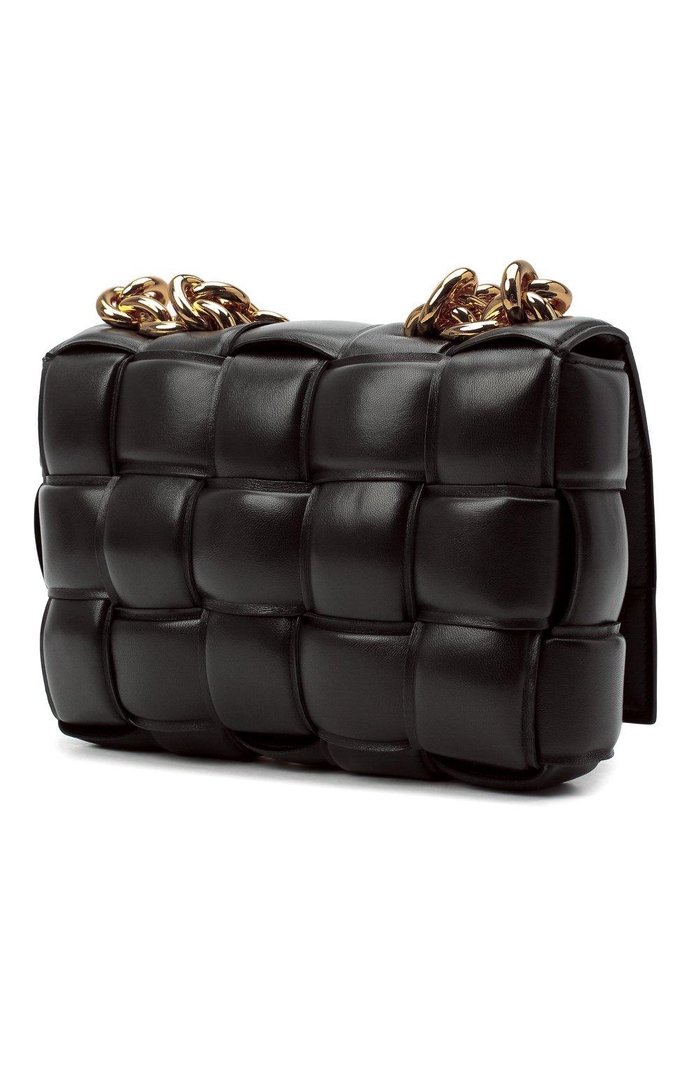 Женская сумка chain cassette BOTTEGA VENETA темно-коричневого цвета, арт. 631421/VBWZ0 | Фото 4