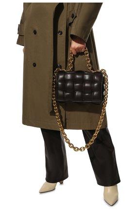Женская сумка chain cassette BOTTEGA VENETA темно-коричневого цвета, арт. 631421/VBWZ0 | Фото 6