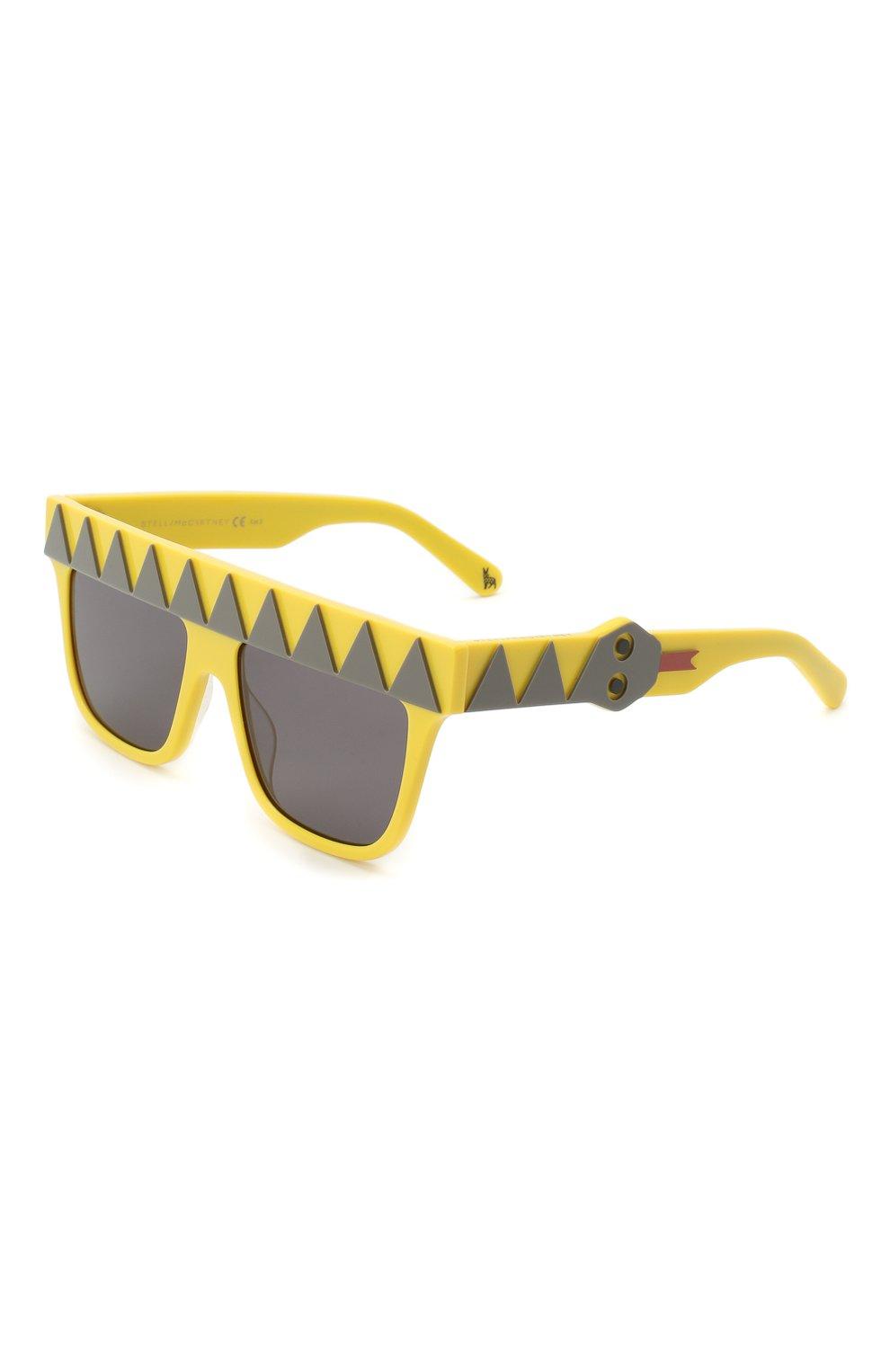 Детские солнцезащитные очки STELLA MCCARTNEY желтого цвета, арт. SK0049 002 | Фото 1