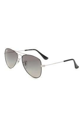 Детские солнцезащитные очки RAY-BAN черного цвета, арт. 9506S-271/11 | Фото 1