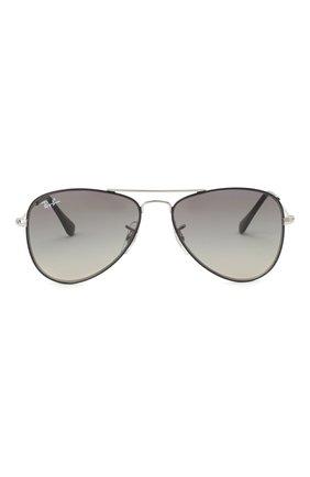 Детские солнцезащитные очки RAY-BAN черного цвета, арт. 9506S-271/11 | Фото 2
