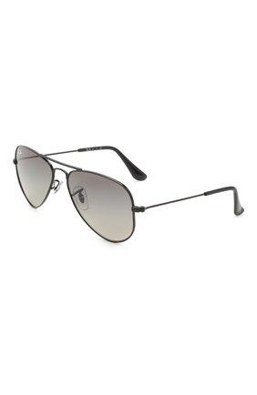 Детские солнцезащитные очки RAY-BAN темно-серого цвета, арт. 9506S-220/11 | Фото 1