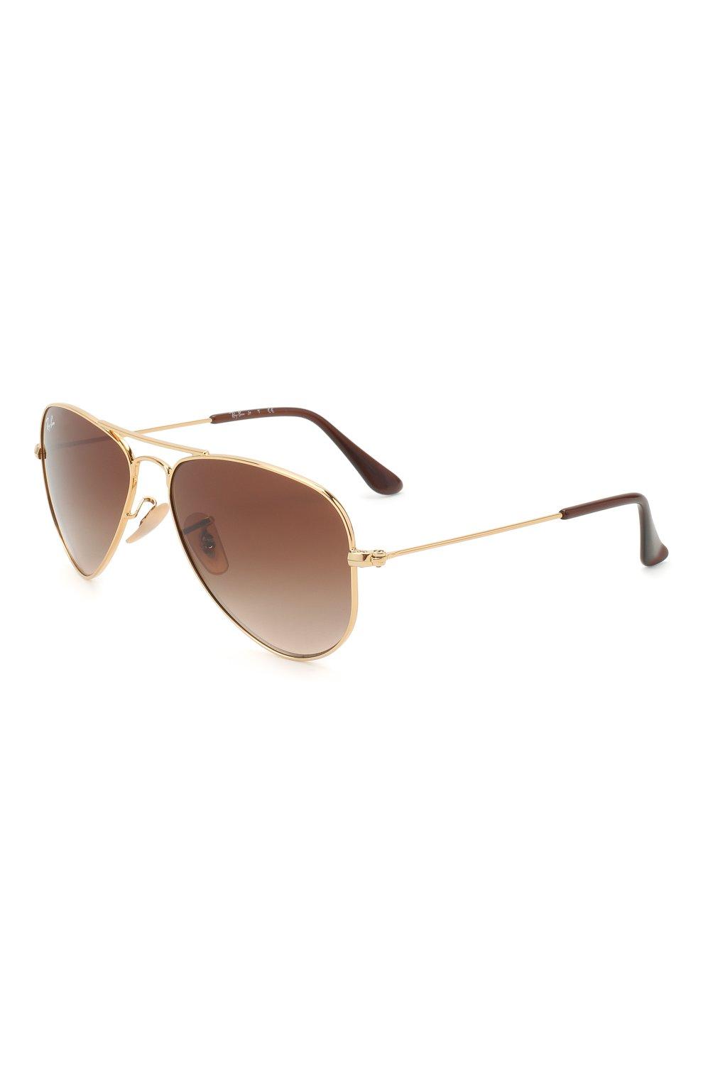 Детские солнцезащитные очки RAY-BAN коричневого цвета, арт. 9506S-223/13 | Фото 1