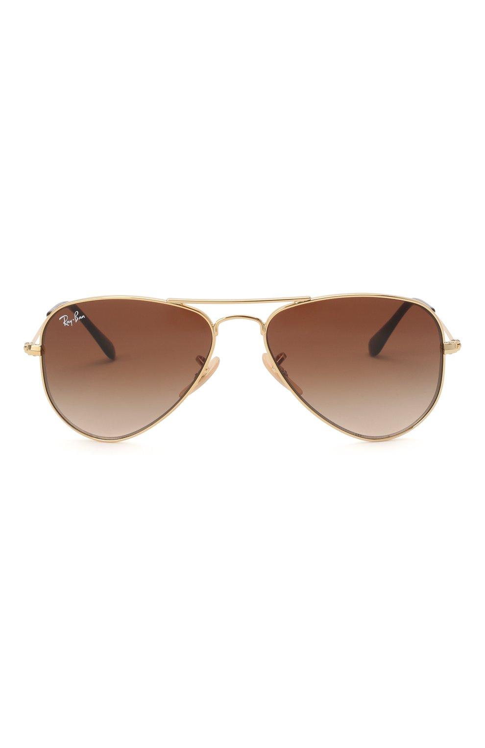 Детские солнцезащитные очки RAY-BAN коричневого цвета, арт. 9506S-223/13 | Фото 2