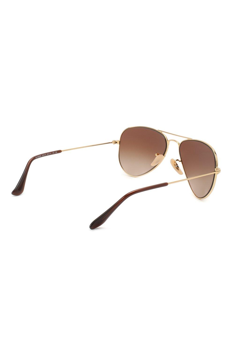 Детские солнцезащитные очки RAY-BAN коричневого цвета, арт. 9506S-223/13 | Фото 3