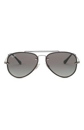 Детские солнцезащитные очки RAY-BAN темно-серого цвета, арт. 9548SN-200/11 | Фото 2