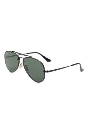 Детские солнцезащитные очки RAY-BAN черного цвета, арт. 9548SN-220/71 | Фото 1