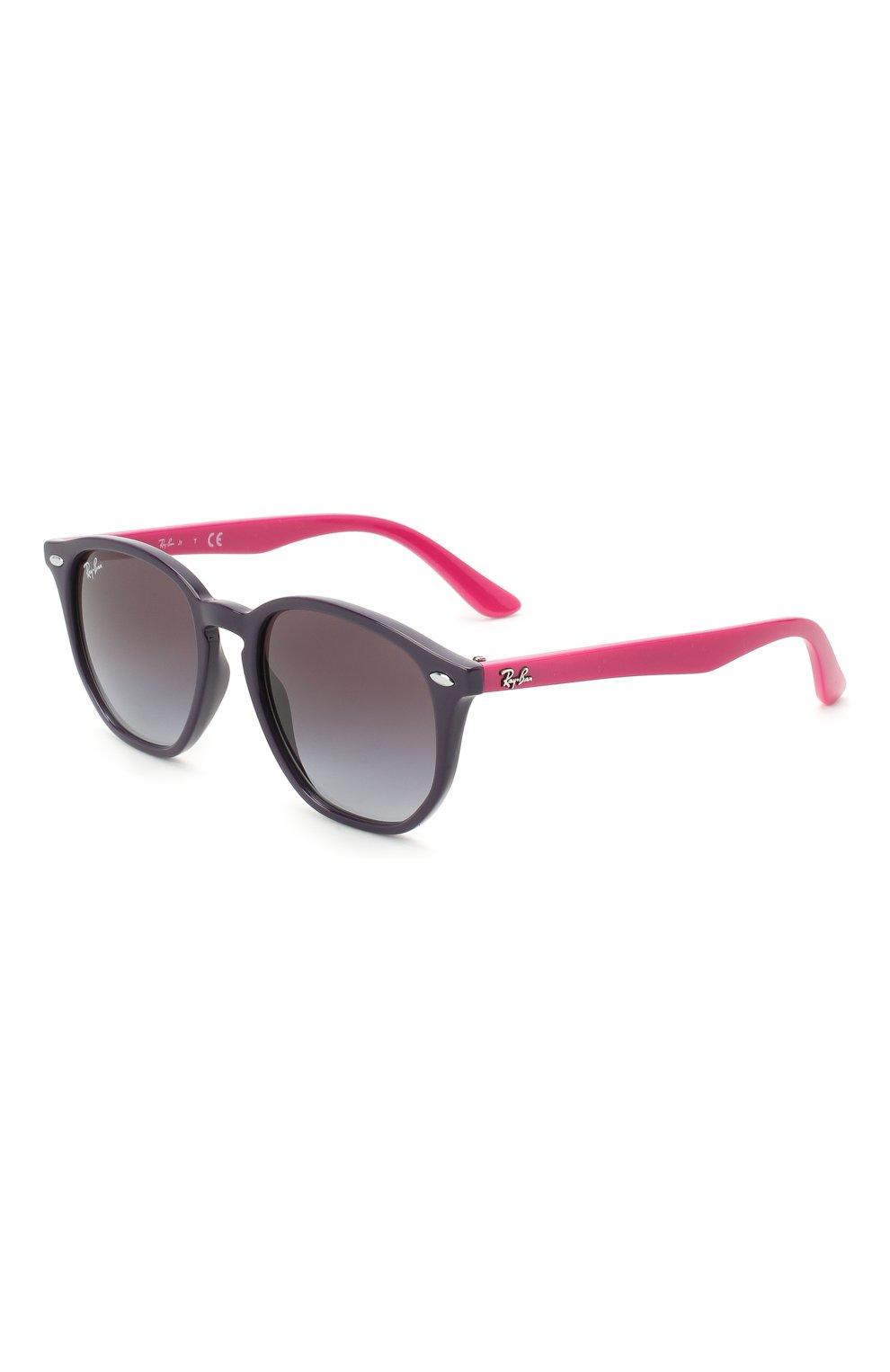 Детские солнцезащитные очки RAY-BAN фиолетового цвета, арт. 9070S-70218G | Фото 1